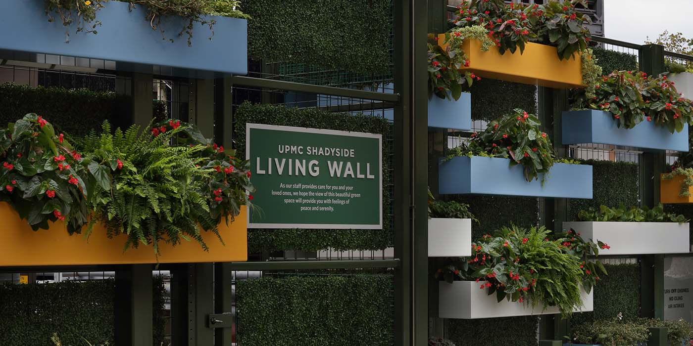 UPMC Shadyside Hospital Living Wall | MBM Contracting